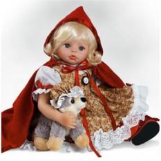 Виниловая кукла Красная шапочка с серым волком