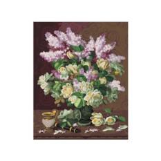 Картины по номерам «Сирень и английские розы»