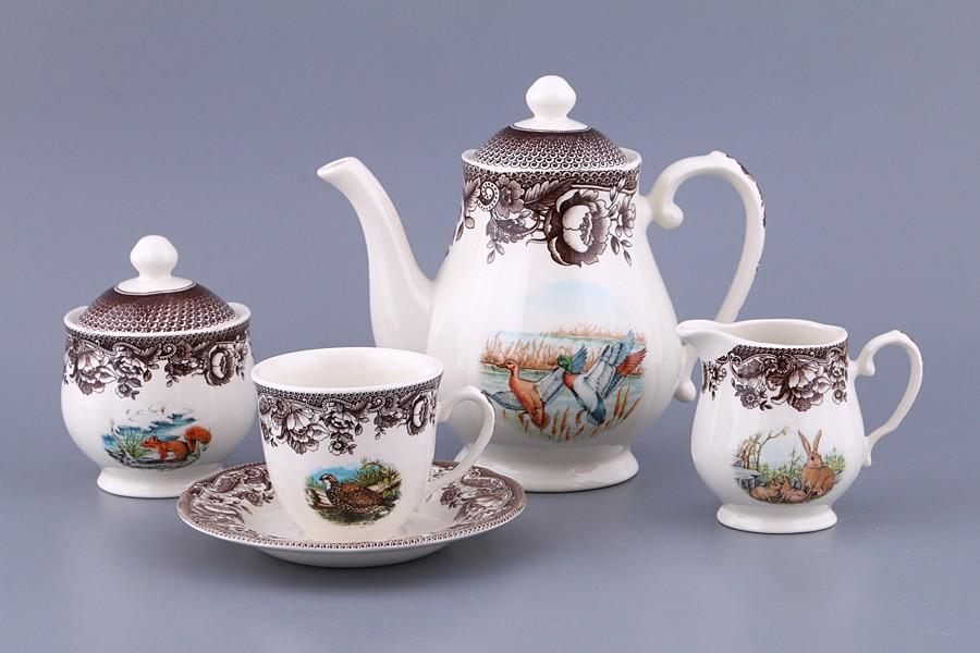 Чайный сервиз на 6 персон  Охота