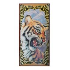 Нарды в деревянном коробе Тигр