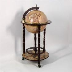 Напольный глобус-бар, размер 88x44x44 см