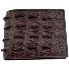 Мужской крокодиловый бумажник коричневого цвета