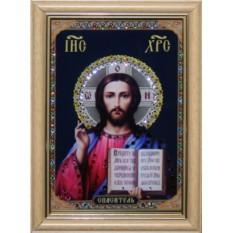 Икона с кристаллами Сваровски Христос Спаситель