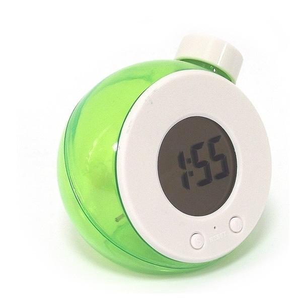 Часы работающие на воде, зеленые малые
