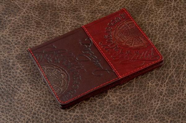 Обложка для паспорта GukFactory (бордовая)