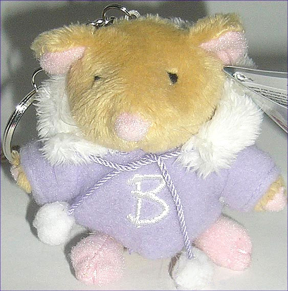 Плюшевый брелок «Мышка в курточке»