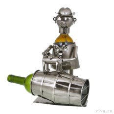 Держатель для бутылок «Мужчина с собакой»