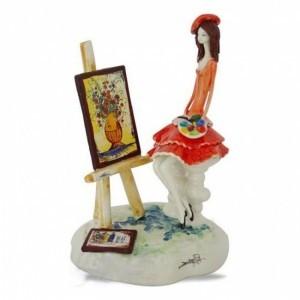 Коллекционная фарфоровая статуэтка Художница