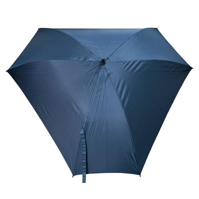 Механический зонт-трость Triangle, синий, блеск