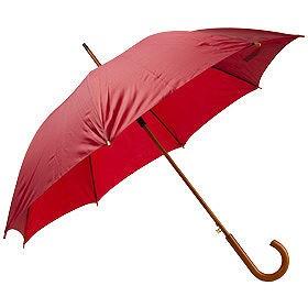 Зонт UNIT STANDART с деревянной ручкой, бордовый