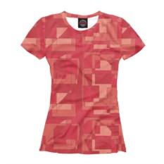 Женская футболка Сердечная мозайка