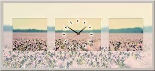 Настенные часы из песка Цветочная поляна