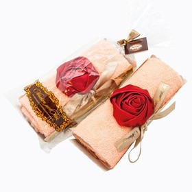 Столовое полотенце Рулет (рококо в розовой пудре)