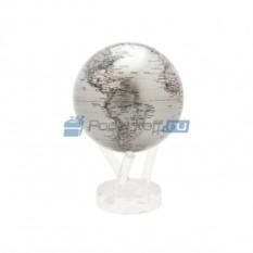 Серебристый глобус мобиле с политической картой мира
