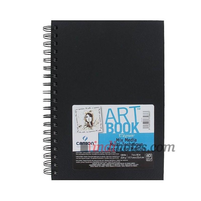 Скетчбук Canson Artbook Mix Media A5+ на спирали