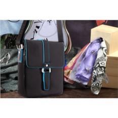 Черная сумка-планшет Dor.Flinger из натуральной кожи
