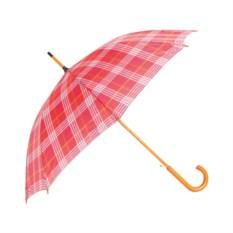 Красный зонт-трость Кокетка