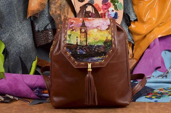 Женский рюкзак с принтом Яркий Лондон