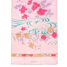 Розовый палантин с узорами и цветками Leonard