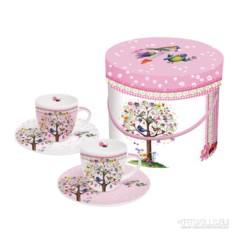 Набор чашек для эспрессо в подарочной коробке Love tree