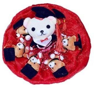 Букет из мягких игрушек 7 медвежат