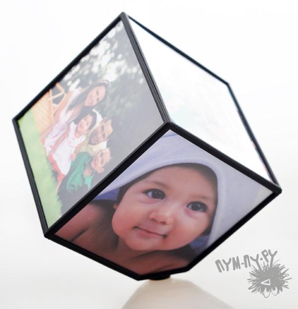 """Фоторамка """"Вращающийся куб"""""""