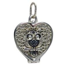 Серебряный медальон Любимая совушка