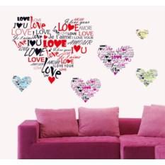 Виниловый стикер Love love love