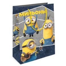 Подарочный бумажный пакет Забавные Миньоны