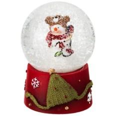 Декоративная фигурка в стеклянном шаре Снеговик