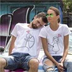 Парные футболки Стрела любви
