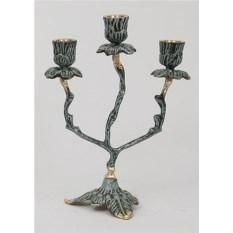 Пара канделябров на 3 свечи из бронзы