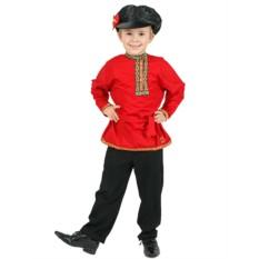 Детская хлопковая красная косоворотка