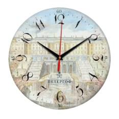 Круглые сувенирные часы Санкт-Петербург. Петергоф