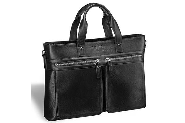 Деловая черная сумка для документов Bosa