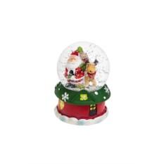 Светящийся шар со снегом Дед Мороз с олененком