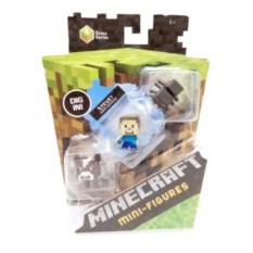 Набор мини фигурок Minecraft Стив, корова и паук