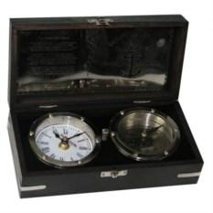Настольный сувенир Часы и компас