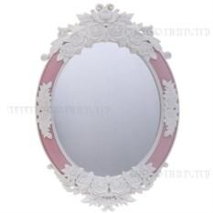 Настенное зеркало (цвет — розово-белый)