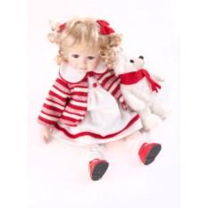 Фарфоровая коллекционная кукла Девочка с игрушкой