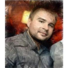 Портрет под карандаш на холсте