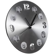 Алюминиевые часы с круглыми фоторамками Гирос