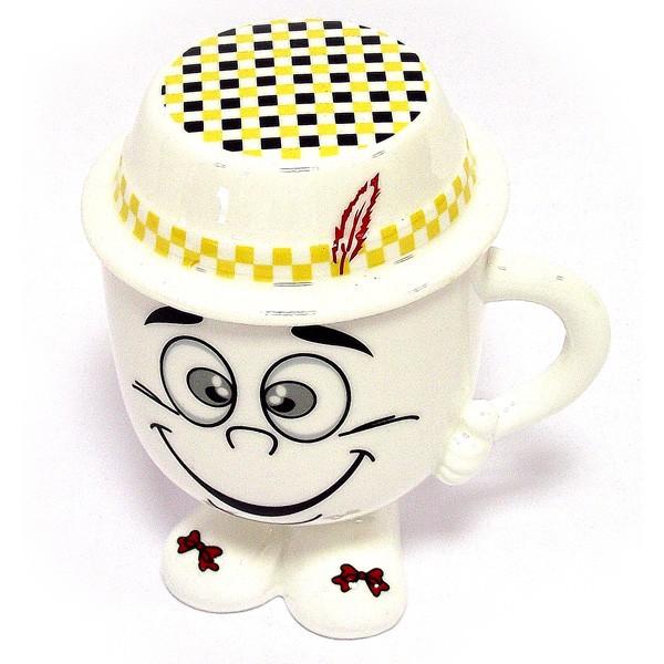 Кружка Смайл с желтой шляпой