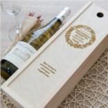 Коробка для вина с гравировкой Рождество