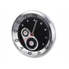 Настенные часы Скорость с термометром и гигрометром