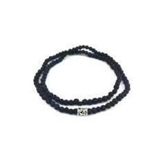 Мужской тонкий браслет из лавы с серебром