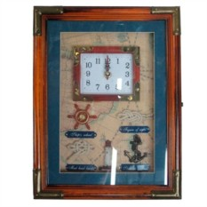Ключница с часами и морскими деталями