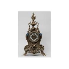 Большие часы из бронзы с кубком, каштанового цвета