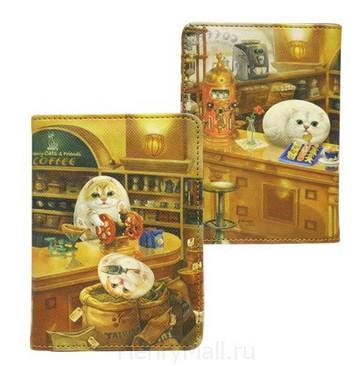 Обложка для паспорта «Кафе Генри»
