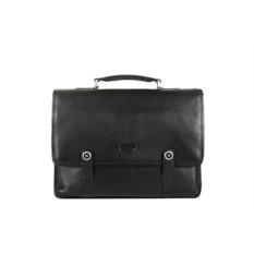 Черный мужской кожаный портфель Barkli